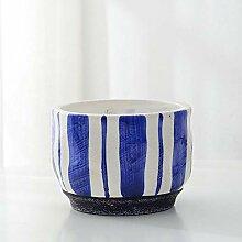 SUNA Porzellan Indoor/Outdoor Blumentopf Keramik