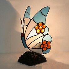 SUNA Tischleuchte Blue Butterfly Tiffany Style