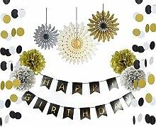 SUNBEAUTY 10er Geburtstag Dekoration Set Happy