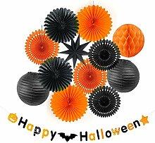 SUNBEAUTY 13er Set Halloween Papier Dekoration