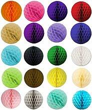 SUNBEAUTY 20er Set Mini 8cm Wabenball Honeycomb