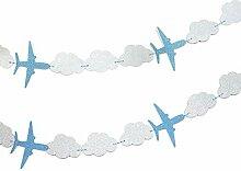 SUNBEAUTY 3 Meter Flugzeug Wolke String Girlande