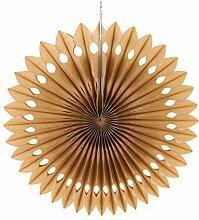 SUNBEAUTY 5er 20cm Schneeflocken Papier Fächer