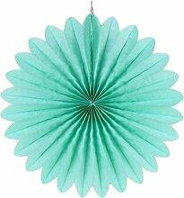 SUNBEAUTY 5er 25cm Papier Fächer Mint Dekoration