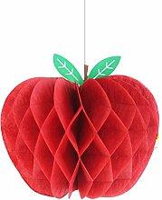 SUNBEAUTY 5er Papier Äpfel Deko Obst Dekoration