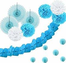 SUNBEAUTY Blaue Serie Blau Papier Dekoration
