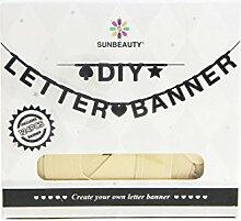 SUNBEAUTY DIY Buchstaben Girlande Gold