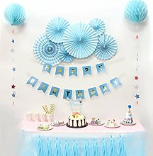 SUNBEAUTY Geburtstag Party Deko Rosetten BIRTHDAY