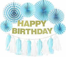 SUNBEAUTY HAPPY BIRTHDAY Girlande Geburtstag