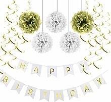 SUNBEAUTY Happy Birthday Girlande Set Geburtstag