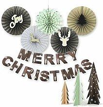 SUNBEAUTY Natur Weihnachten Papier Dekoration