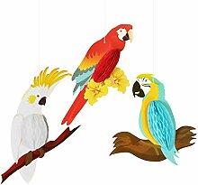 SUNBEAUTY Papier Papagei Dekoration Macaw Tier