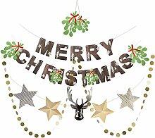 SUNBEAUTY Papier Weihnachten Dekoration Set Merry