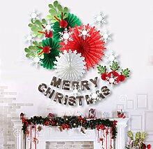 SUNBEAUTY Papier Weihnachtsdeko Set Papierrosetten