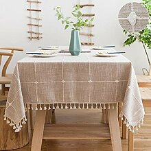 SUNBEAUTY Tischdecken Baumwolle Rechteckig