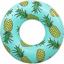 Sunbobo Ananas-Muster-aufblasbarer PVC-Schwimmring-Pool-Hin- und Herbewegungssitz für erwachsene Kinderkindermädchen-Jungen-Strand-Spielzeug