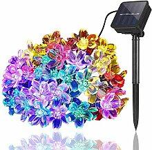 Sunboia LED Solar Blumen Lichterkette,Solar