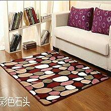 Sundian Verdickung Maschinenwäsche badezimmer, schlafzimmer Matte, Teppich, Fußmatte, 50 * 80 cm Verdickung, bunten Stein