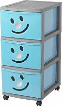 Sundis 4469005 Happytower 3 Aufbewahrungsschrank, groß, Polypropylen, 38x30x65,5cm, Blau/silberfarben