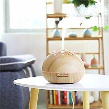 Sundlight Aroma Diffuser Luftbefeuchter Hohlmuster fürs Haus, Büro, Schlafzimmer, Kinderzimmer mit Farblicht 300ml-Holzfarbe