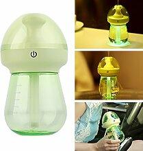 Sundlight Luftbefeuchter fürs Haus, Büro, Schlafzimmer, Kinderzimmer mit Nachtlicht 240ml-Grün