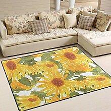 Sunflower Area Rug 4 'x 6', pädagogische