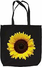 Sunflower Design Tasche Einkaufstasche Beach Schule Zubehör L & S Prints