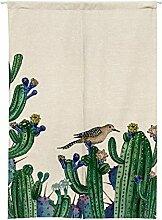 Sunflower Pflanzenstoff Türvorhang, Baumwolle Leinen Halbe Tür Vorhang Dekorative Partition - Für Hauseingang Dekoration, Schlafzimmer, Wohnzimmer, Zimmer, Küche (2 Arten verfügbar) , a , 85x120cm