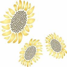 Sunflower Schablone-wiederverwendbar Groß