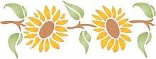 Sunflower stenci-24x