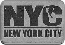 SUNG HEE NYC New York City Schwarz Logo Funny Mats