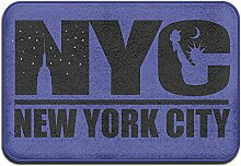 SUNG HEE NYC New York City Schwarz Logo Fußmatten