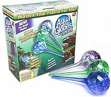 sungmor Aqua Globes 3er Set, automatischen Bewässerung, Glas Leuchtmittel, 7x 20cm, 200ml Kapazität, beste Bewässerung Lösungen für Innen, Außen & OFFICE Topfpflanzen