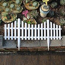 sungmor Garten Lattenzaun, Kunststoff weiß Einfassungen, Gras Rasen Beeten Pflanze Grenzen, Landschaft Weg Platten
