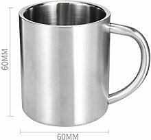 SUNHAO Edelstahl Tasse Kaffee Tasse Doppelband