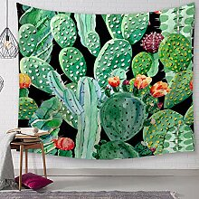 SUNHAO Tischdecke Cactus Print Tapisserie