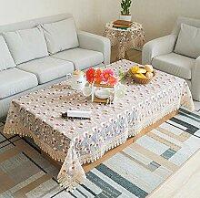 SUNHAO Tischdecke Tischfahne Bestickte Tischdecke