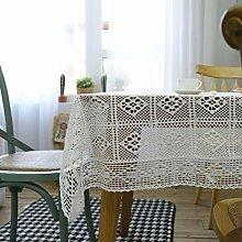SUNHAO Tischdecke, weiße Häkeldecke, ländliche