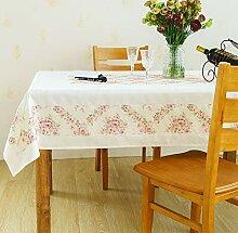 SUNHAO Tischdecke weiße Spitze Tischdecke Stoff