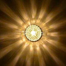 Sunix® 5W Moderne Hochleistungs-Kristall-LED-Deckenleuchte / Pendelleuchte , Edelstahl-Einbauleuchte für Schlafzimmer, Gänge, Überdachungen, Flur, Badezimmer