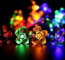 SunJas Solar Lichterkette Blumen LED Lights