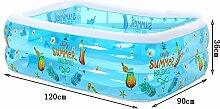Sunjun& Familien-Pool-Umweltschutz-PVC-Baby-Swimmingpool, aufblasbares Baby-Säuglingsspiel-Swimmingpool-Schwimmen-Eimer ( größe : 120*90*36cm )