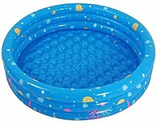 Sunjun& Kinder-Pool Runde Inflated Pool Baby-Badewanne Nicht-toxische Badewanne ( Farbe : Blau )