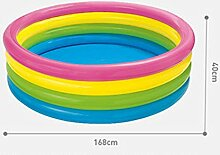 Sunjun& Runde Kinder Aufblasbare Schwimmbecken Familie Ocean Ball Pool Verdickung Pool Pool Adult Bad ( größe : 40*168cm )