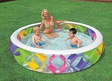Sunjun& Runder aufblasbarer Pool Familienpool mit erwachsener Badewanne