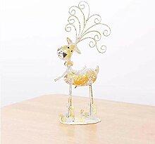 SUNLIFE Weihnachten Schmiedeeisen Elch Ornament