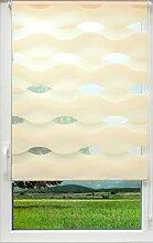 sunlines Welle Klemmfix, Creme, 120 x 150