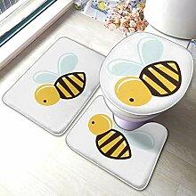 Sunmuchen Cartoon Bee Badgarnitur Badematten Set 3