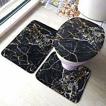 Sunmuchen Colored Marble Badgarnitur Badematten