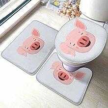 Sunmuchen Funny Pink Pig Face Badgarnitur
